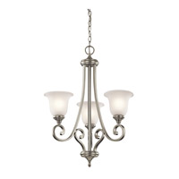 Monroe LED 23 inch Brushed Nickel Chandelier Ceiling Light, Small