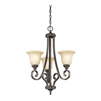 Monroe LED 23 inch Olde Bronze Chandelier Ceiling Light, Small