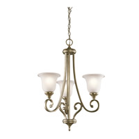 Monroe 3 Light 23 inch Sterling Gold Chandelier 1 Tier Small Ceiling Light