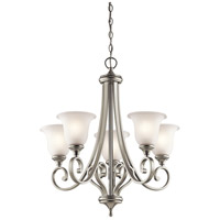 Kichler 43156NI Monroe 5 Light 28 inch Brushed Nickel Chandelier Ceiling Light