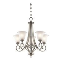 Monroe LED 28 inch Brushed Nickel Chandelier Ceiling Light, Medium
