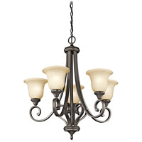 Kichler 43156OZ Monroe 5 Light 28 inch Olde Bronze Chandelier Ceiling Light