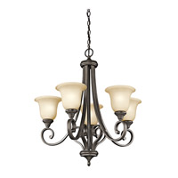 Monroe LED 28 inch Olde Bronze Chandelier Ceiling Light, Medium