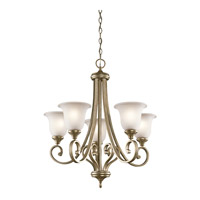Monroe 5 Light 28 inch Sterling Gold Chandelier 1 Tier Medium Ceiling Light