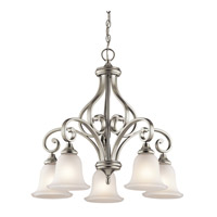 Kichler 43158NI Monroe 5 Light 27 inch Brushed Nickel Chandelier Ceiling Light