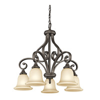 Monroe 5 Light 27 inch Olde Bronze Chandelier Ceiling Light
