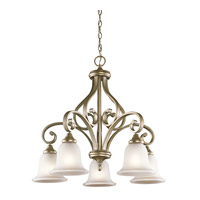 Monroe 5 Light 27 inch Sterling Gold Chandelier 1 Tier Medium Ceiling Light