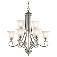 Kichler 43159NI Monroe 9 Light 34 inch Brushed Nickel Chandelier Ceiling Light