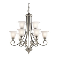 Monroe LED 33 inch Brushed Nickel Chandelier Ceiling Light