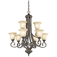 Kichler 43159OZ Monroe 9 Light 34 inch Olde Bronze Chandelier Ceiling Light