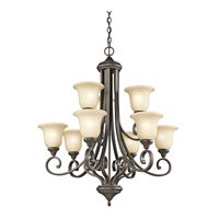 Kichler 43159OZL16 Monroe LED 34 inch Olde Bronze Chandelier Ceiling Light