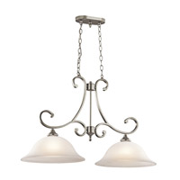 Kichler Lighting Monroe 2 Light Island Chandelier in Brushed Nickel 43160NI