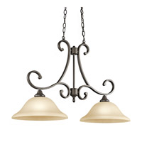 Kichler Lighting Builder Monroe 2 Light Island Pendant in Olde Bronze 43160OZ