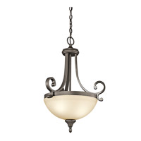 Kichler 43163OZ Monroe 2 Light 18 inch Olde Bronze Inverted Pendant Ceiling Light