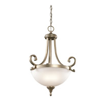 Monroe 2 Light 18 inch Sterling Gold Pendant Ceiling Light