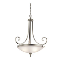 Kichler 43164NI Monroe 3 Light 27 inch Brushed Nickel Pendant Ceiling Light
