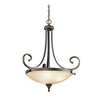 Kichler 43164OZ Monroe 3 Light 27 inch Olde Bronze Inverted Pendant Ceiling Light