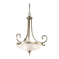 Kichler 43164SGD Monroe 3 Light 27 inch Sterling Gold Pendant Ceiling Light