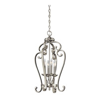 Monroe 4 Light 15 inch Brushed Nickel Foyer Chain Hung Ceiling Light