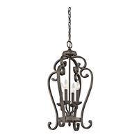Kichler 43165OZ Monroe 4 Light 15 inch Olde Bronze Foyer Chain Hung Ceiling Light