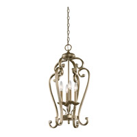 Monroe 4 Light 15 inch Sterling Gold Chandelier Foyer Ceiling Light