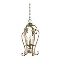 Kichler 43165SGD Monroe 4 Light 15 inch Sterling Gold Chandelier Foyer Ceiling Light