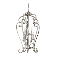 Kichler Lighting Builder Monroe 8 Light Foyer Chain Hung in Brushed Nickel 43166NI photo thumbnail