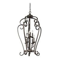 Kichler 43166OZ Monroe 8 Light 23 inch Olde Bronze Foyer Chain Hung Ceiling Light
