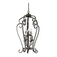 Kichler 43166OZ Monroe 8 Light 23 inch Olde Bronze Foyer Chain Hung Ceiling Light
