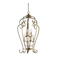 Monroe 8 Light 23 inch Sterling Gold Chandelier Foyer Ceiling Light