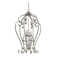 Monroe 8 Light 27 inch Brushed Nickel Foyer Chain Hung Ceiling Light