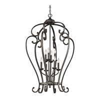 Kichler 43167OZ Monroe 8 Light 27 inch Olde Bronze Foyer Chain Hung Ceiling Light
