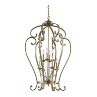 Monroe 8 Light 27 inch Sterling Gold Chandelier Foyer Ceiling Light
