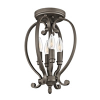 Kichler Lighting Builder Monroe 4 Light Semi-Flush Mount in Olde Bronze 43168OZ