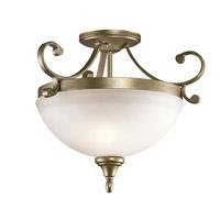 Kichler 43169SGD Monroe 2 Light 17 inch Sterling Gold Semi Flush Ceiling Light