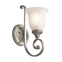 Monroe LED 6 inch Brushed Nickel Wall Sconce Wall Light