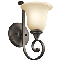Kichler 43170OZ Monroe 1 Light 6 inch Olde Bronze Bath Vanity Wall Light