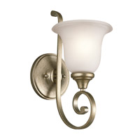 Monroe 1 Light 6 inch Sterling Gold Wall Bracket Wall Light