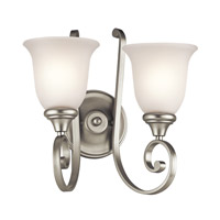 Kichler Lighting Monroe 2 Light Wall Bracket in Brushed Nickel 43171NI