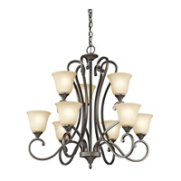 Kichler Lighting Builder Feville 9 Light Chandelier in Olde Bronze 43177OZ photo thumbnail