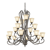 Kichler Lighting Builder Feville 16 Light Chandelier in Olde Bronze 43178OZ photo thumbnail