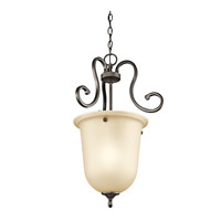 Kichler 43180OZ Feville 1 Light 16 inch Olde Bronze Foyer Chain Hung Ceiling Light