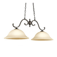 Kichler Lighting Builder Feville 2 Light Island Pendant in Olde Bronze 43183OZ
