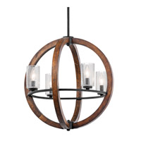 Grand Bank 4 Light 20 inch Auburn Stained Finish Chandelier Ceiling Light