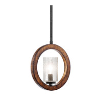 Grand Bank 1 Light 9 inch Auburn Stained Finish Pendalette Ceiling Light