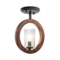 Kichler 43189AUB Grand Bank 1 Light 9 inch Auburn Stained Finish Pendalette Ceiling Light alternative photo thumbnail
