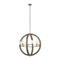 Kichler 43190DAG Grand Bank 8 Light 28 inch Distressed Antique Gray Chandelier Ceiling Light, Medium