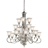 Kichler 43192NIL16 Monroe LED 45 inch Brushed Nickel Chandelier Ceiling Light