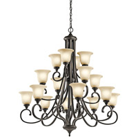 Kichler 43192OZL16 Monroe LED 45 inch Olde Bronze Chandelier Ceiling Light
