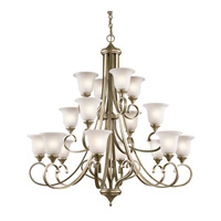 Kichler 43192SGD Monroe 16 Light 45 inch Sterling Gold Chandelier Multi Tier Ceiling Light